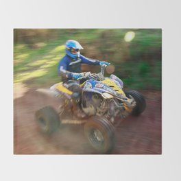 ATV offroad racing Throw Blanket