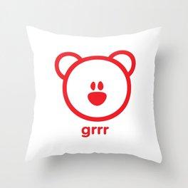 Bear : grrr Throw Pillow