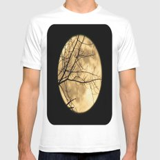 Shadows on the Moon Mens Fitted Tee White MEDIUM