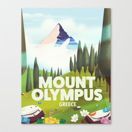 Mount Olympus, Greece, Travel poster Canvas Print