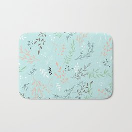 Light And Lovely Spring Floral Garden Pattern Bath Mat