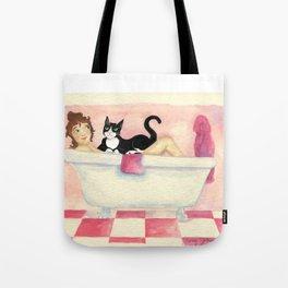 Bath Chat Cat Tote Bag