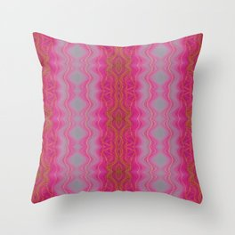 Pink Symmetry Throw Pillow