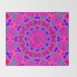 Mandala wintertime Throw Blanket