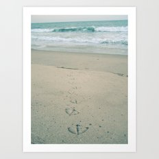 Footprints Art Print
