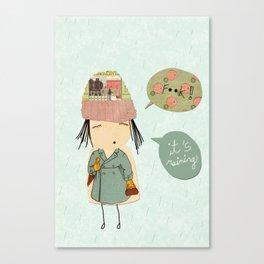 """""""I like London in the rain"""" Canvas Print"""