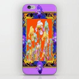 Lilac Purple Color Cumin Iris Garden Art iPhone Skin