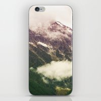 the mountains are calling iPhone & iPod Skins featuring The Mountains Are Calling by Noonday Design