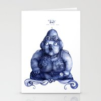 fat Stationery Cards featuring Fat Lady by Anna Cannuzz