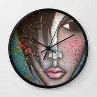 lolita Wall Clocks featuring LOLITA by Sandra Mucciardi