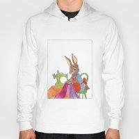 sewing Hoodies featuring sewing rabbit by emmeke