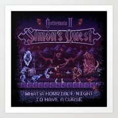 Simon's Vania Castle Quest Art Print