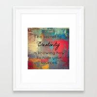 creativity Framed Art Prints featuring Creativity by My Joie De Vivre