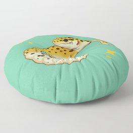 Sparkly Leopard Gecko Floor Pillow