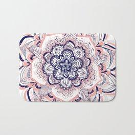 Woven Dream - Mandala in Pink, White and deep Purple Bath Mat