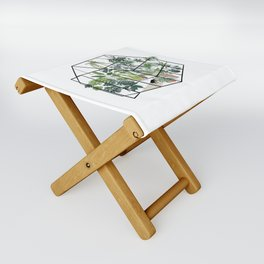 greenhouse with plants Folding Stool