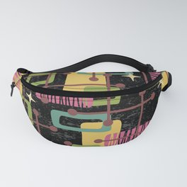 Mid Century Modern Abstract Pattern 836 Fanny Pack