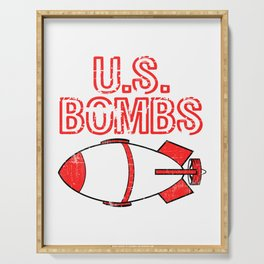 """A Bombing Tee For Bombers Saying """"U.S. Bombs"""" T-shirt Design United States Of America Explosives Serving Tray"""