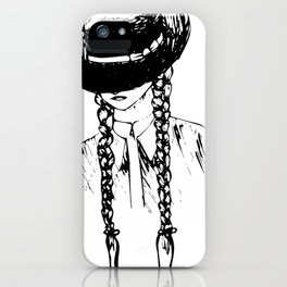 Mattie's Braids iPhone Case