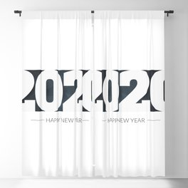 Happy new year 2020 Blackout Curtain