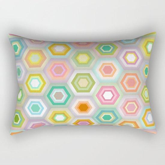 granny pastel hex Rectangular Pillow