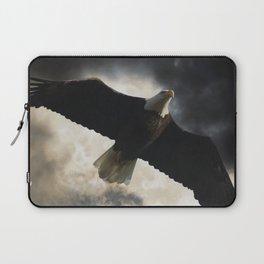 Soaring Eagle in Stormy Skies Laptop Sleeve