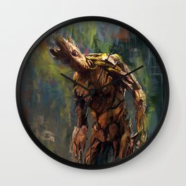 I am Groot! Wall Clock
