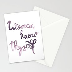 Woman know thyself - pink Stationery Cards