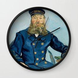 "Vincent Van Gogh ""Portrait of the Postman Joseph Roulin"" Wall Clock"