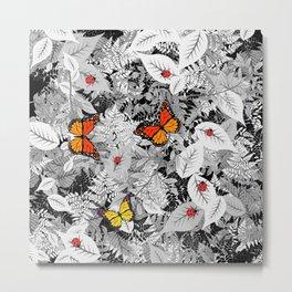 Bugs and foliage Metal Print