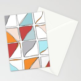 Abstract Squares 2.0 Stationery Cards