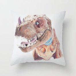 Bloodfen Raptor Dinosaur Throw Pillow