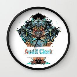 Audit Clerk job gift awesome profession and great career Wall Clock