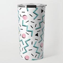 Back to the 80's eighties, funky memphis pattern design Travel Mug