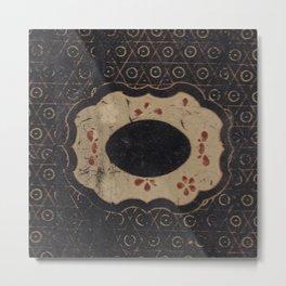 Vintage Japanese lacquer box pattern Metal Print