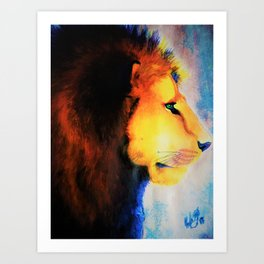 Technicolor King Art Print