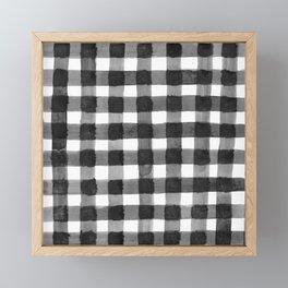 Black and White Gingham Framed Mini Art Print