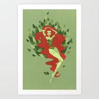 poison ivy Art Prints featuring Poison Ivy by LittlePaperForest