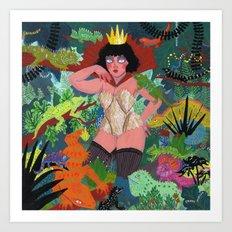 The Lizard Queen Art Print