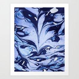 Dark and Bright and Blue Art Print