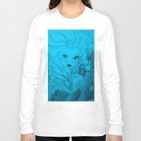 frozen elsa Long Sleeve T-shirts featuring Frozen Elsa by ALynnArts
