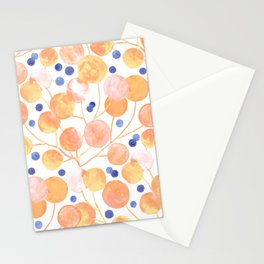 Pompom Plants in Pastel Stationery Cards