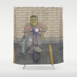 Frankenstein Scooter Shower Curtain