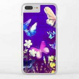 Night Butterflies Clear iPhone Case