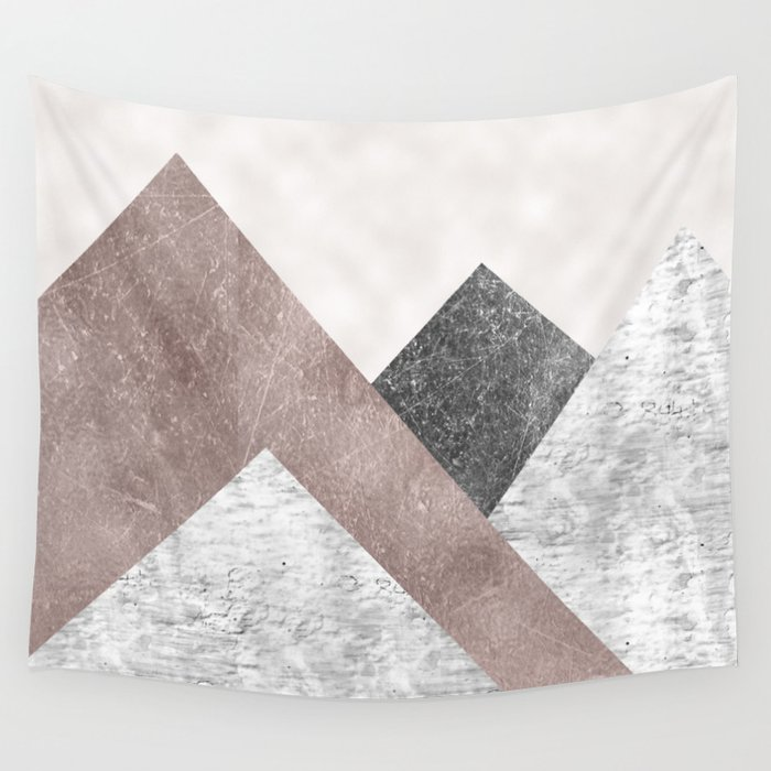 Rose grunge - mountains Wall Tapestry