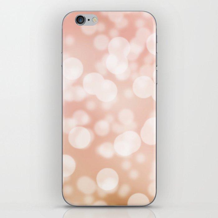 Pink & Gold Bokeh iPhone Skin