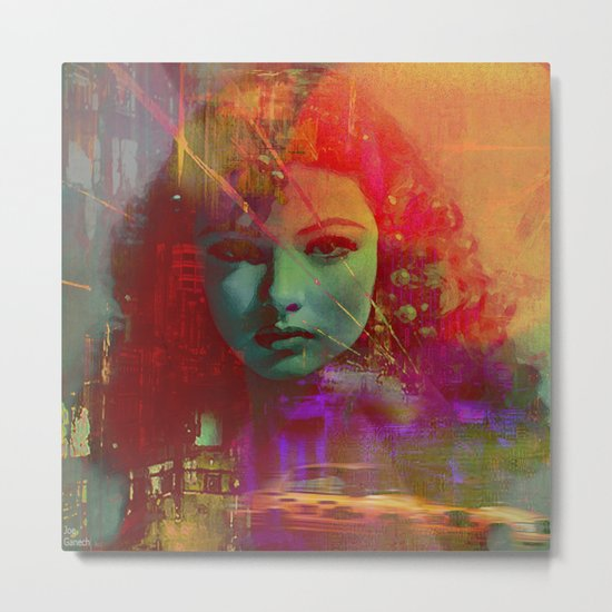 The girl of Tuesday evening Metal Print