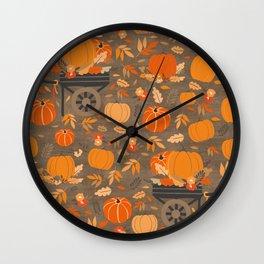 Fall Fields Wall Clock