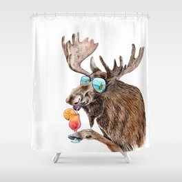Moose on Vacation Shower Curtain