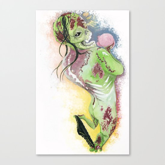 Zombie Pin-up Canvas Print